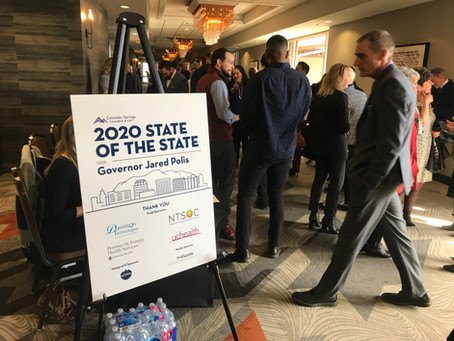 Visiting the 2020 State of the State with Colorado Gov. Jared Polis