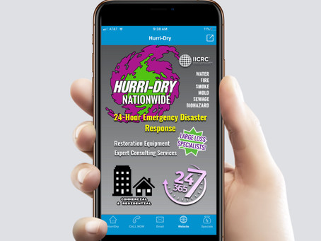 Emergency response only 2-clicks away with new Hurri-Dry Nationwide mobile app!