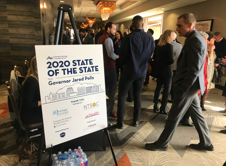 Connecting with others at the 2020 State of the State with Colorado Gov. Jared Polis