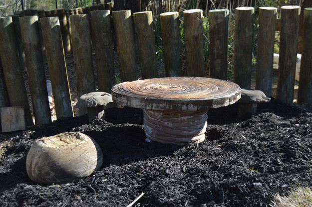 Concrete Table & Stools