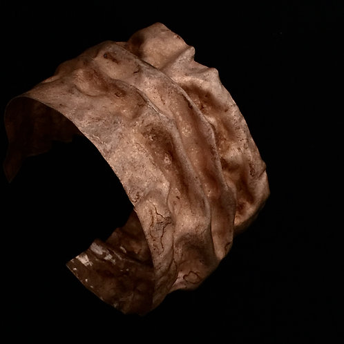 Copper Fold Draped Cuff