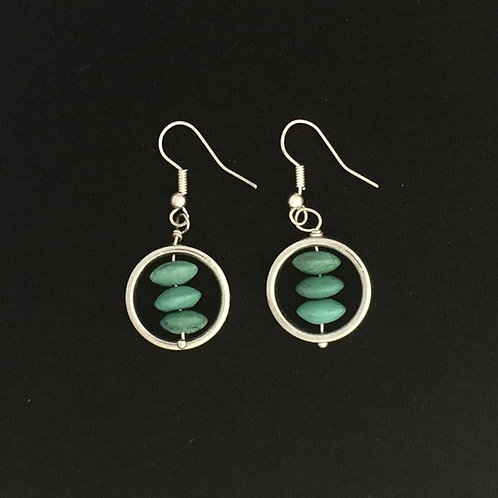 Circled Turquoise Earrings