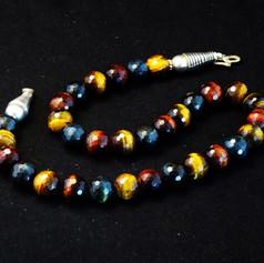 Multi color Tiger Eye necklace