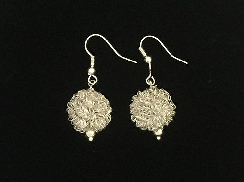 Sterling looped wire earrings