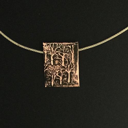 Copper Forest Pendant with chain