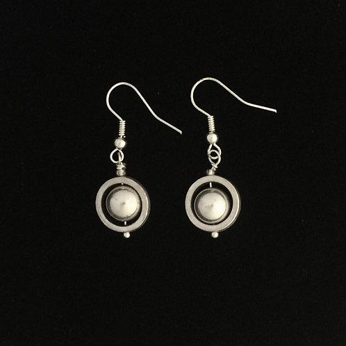 Circled Pearl Earrings