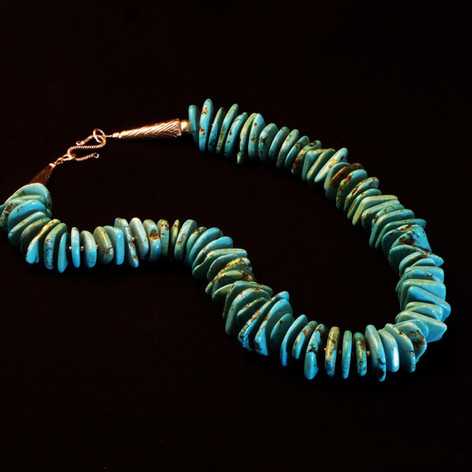 Tuquoise Disks necklace