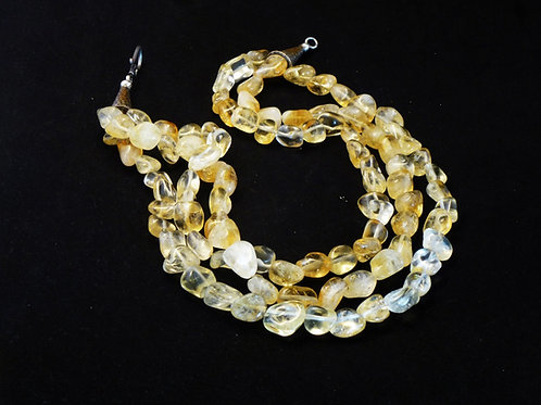 Citrine 3-strand necklace