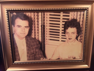 Happy Birthday to my Dad, Clem Buseck (pictured with my Mom on their honeymoon)