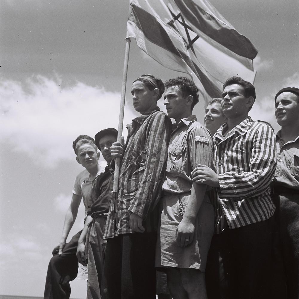 Buchenwald survivors arrive in Haifa in 1945