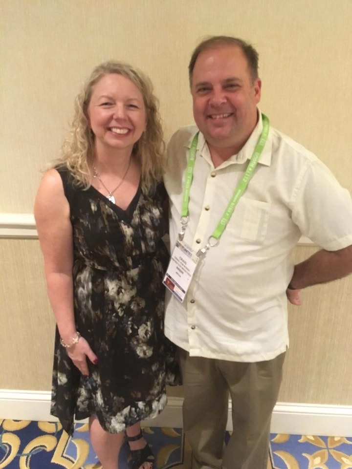 Donna Feyen with Dr. Craig von Buseck