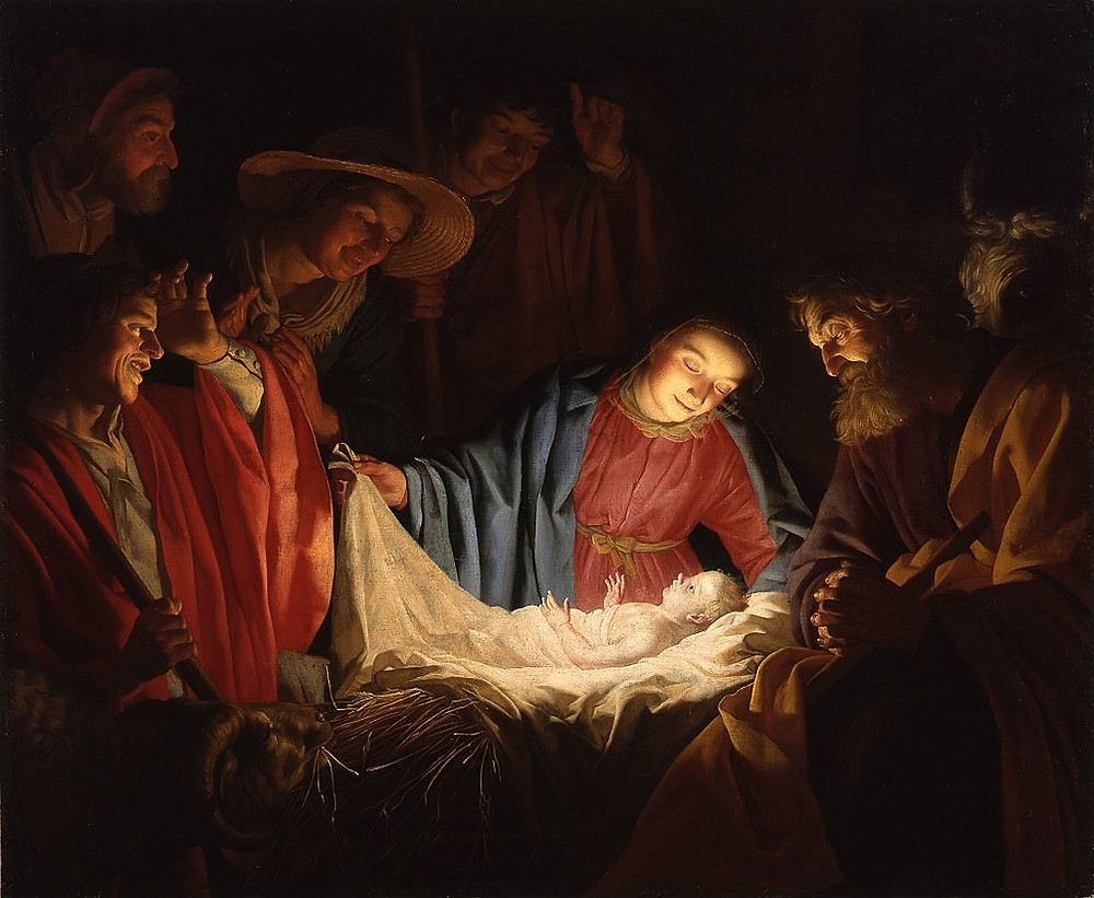 Adoration of the Shepherds by the Dutch painter Gerard van Honthorst, 1622