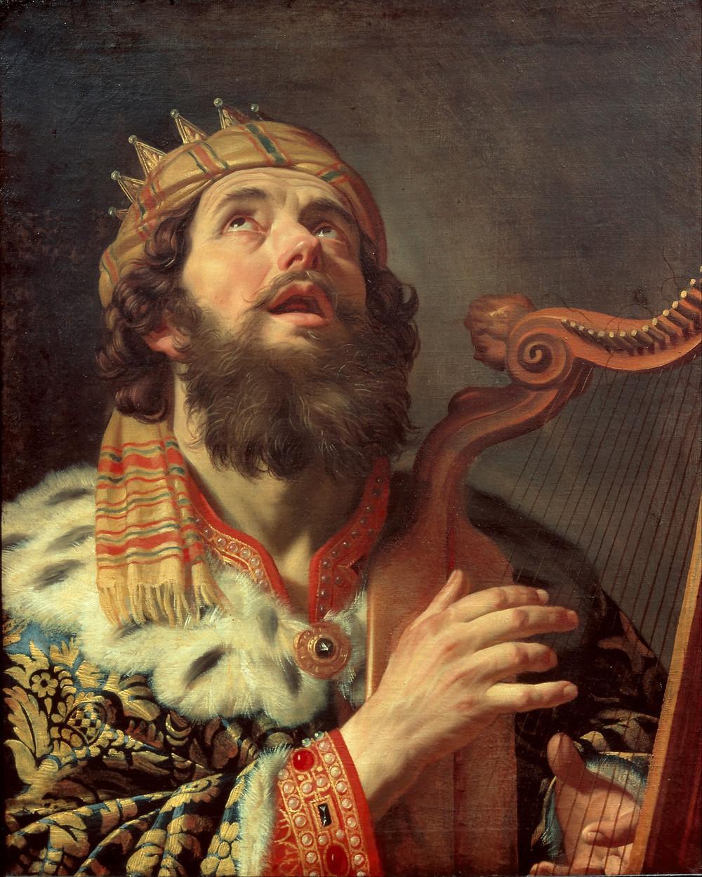 """King David Playing the Harp,"" Gerard van Honthorst. (Google Art Project)"