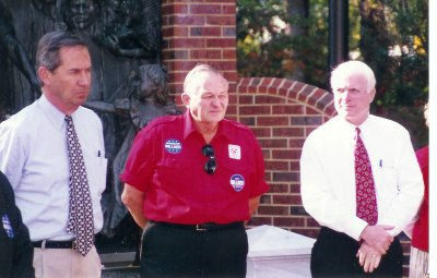 Col. Pool with Guy Milner & John McCain