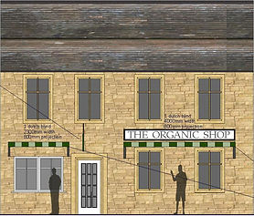 Listed Building Conset Granted for alteratios to the shopfront of this Listed Building in the heart of Stowon-the-Wold. En-Plan: Listed Building Planning Consultants for Birmingham and Essex.
