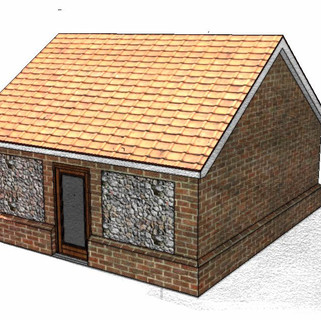 Rear Elevation of the approved garage.