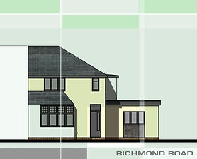Initial planning application approved with building works now completed for this house re-model in Birminham.