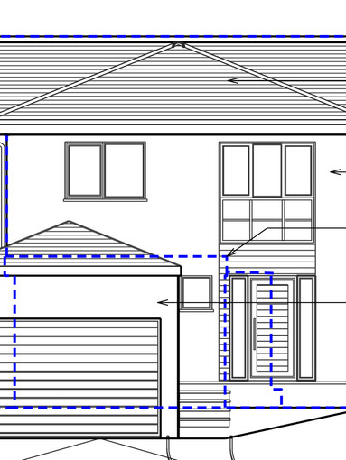 Carson Road Building Regs Approval front Elevation