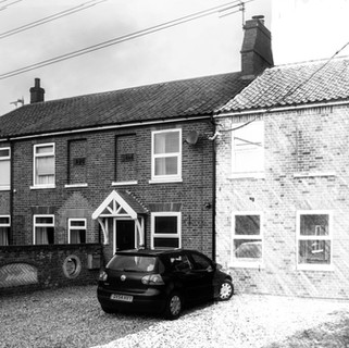 Pencil Render for two-storey side extension in Norfolk..