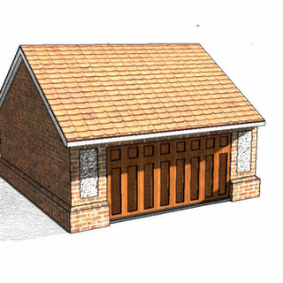 Frontal Elevation fo the apporved Garage.