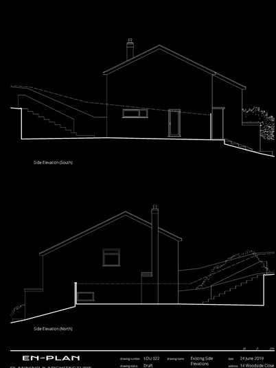 Existing Side Elevations