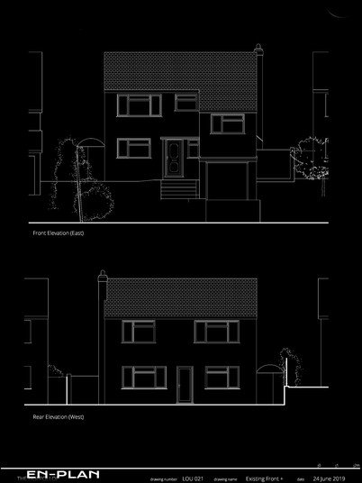 Existing Front and Rear Elevations