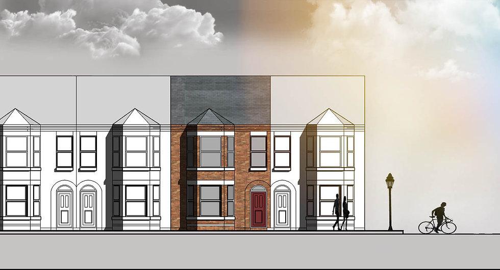 presentation elevation for 2 Queens Road