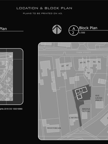 Location & Block Plan of Approved Bunglaow in Madeley, Telford.