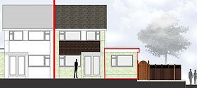 Planning Application approved for a single sorey side extension and re-poitioning of the boundary fence to increase the garden area n Trench, teford, Shropshre.