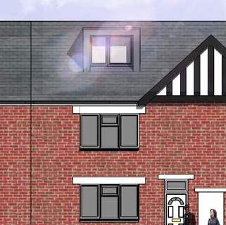 Building Regulations Approval for new loft conversion and rear extension in Meole Brace, Shrewsbury.
