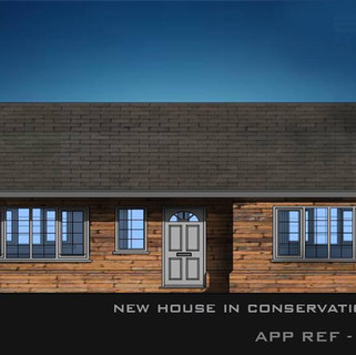 New Bungalow Aproved in The Necton Conservation Area in Norfolk.