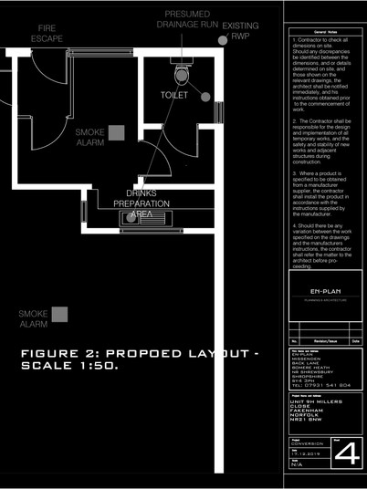 Approved Floorplans for Planning and Building Regulations Approval.