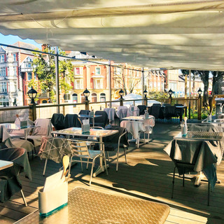 Outdoor dining area approved at The Commodore Hotel.