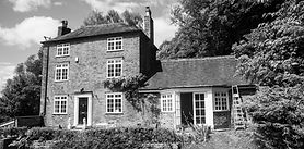 Photograph of the front of Oswald House, Ironbridge Conservation Area, Telford, Shropshire.