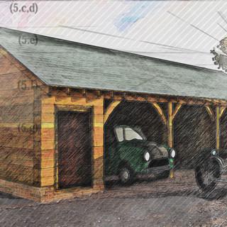 Approved Triple Garage Visualisation
