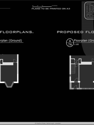 Existing and Proposed Flooprlans for 19