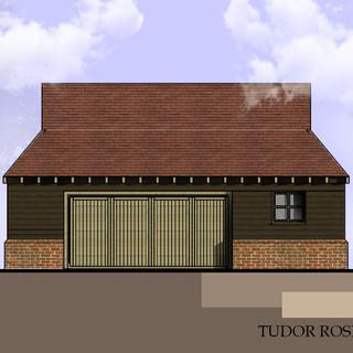 """New Garage at """"Tudor Rose"""", Essex."""