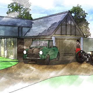 New Bedroom added above existing garage in Wem, Shropshire.