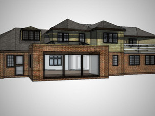 New house extension approved overturing previous refusals on the site.