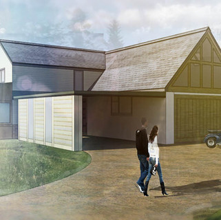 Extension of barn and conversion to residential annex approved in Wem, Shropshire.