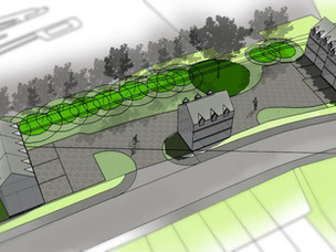 Outline Planning Application for Ten Units submitted in Oswestry.