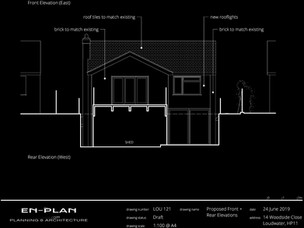 New two-storey house extension approved.