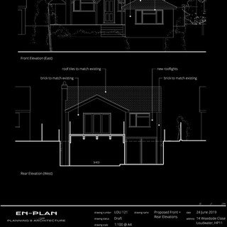 Householder planning application for two storey rear extension and cinema room submitted.