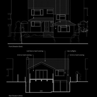 Front and rear extensions approved at property in High Wycombe.