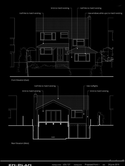 proposed Front and Rear Elevations