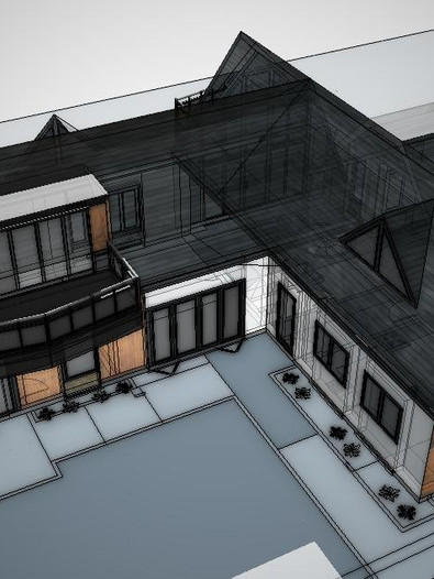Aerial view of new bungalow re-model approved in Essex.
