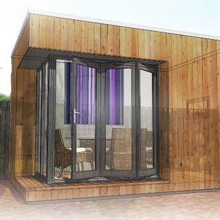 Overlay Method for Garden Studio, reat Barr, Birmingham.