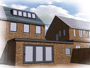 House extension apporved in Blaby, Leicestershire.