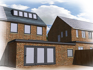 Extension and loft conversion application approved in Leicestershire.