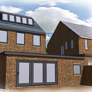Extension and loft conversion approved in the Narborough Conservation Area.